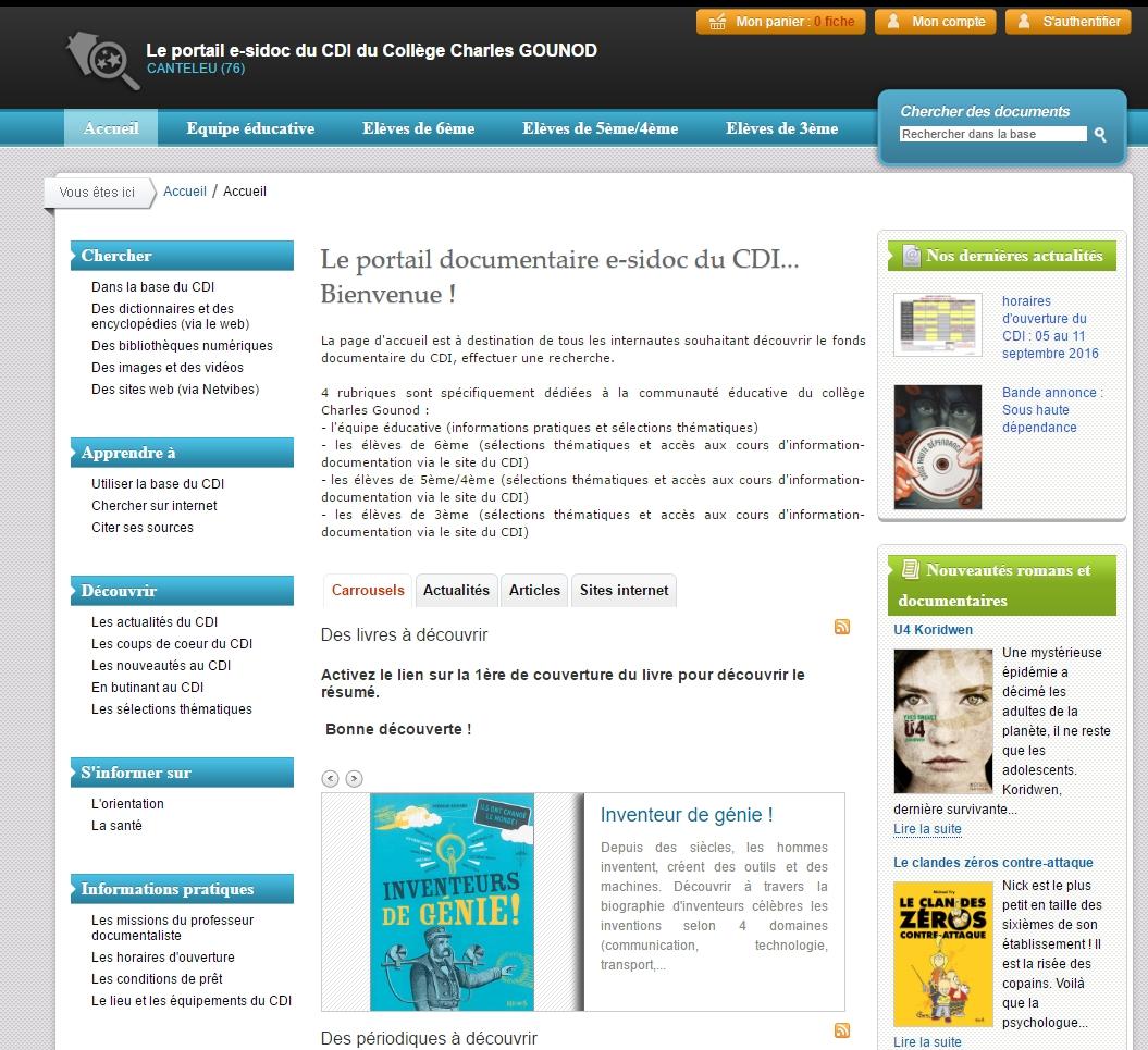 page-daccueil-es-sidoc