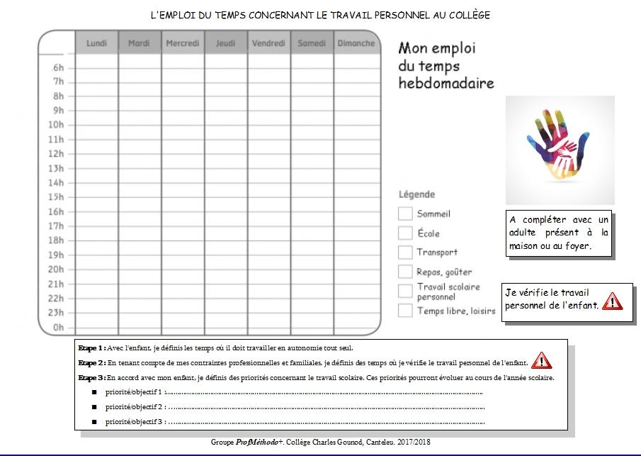 Organiser Son Travail L Emploi Du Temps Infodoc Store